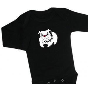 Bulldog-body (svart/vit)