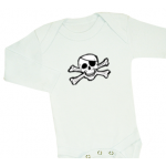 Pirat-body (svart/vit)